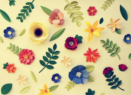 papercraft: Flowers Handmade Design Papercraft Art