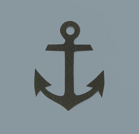 Anchor Marine Adventure Sign Sign Icon Archivio Fotografico - 80510038