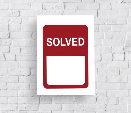 Solved Solution Banner Graphic Word