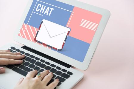 progressing: Email Communication Envelope Icon Graphic
