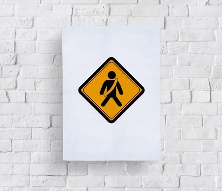 고정 안전 벨트 경고 경고 기호