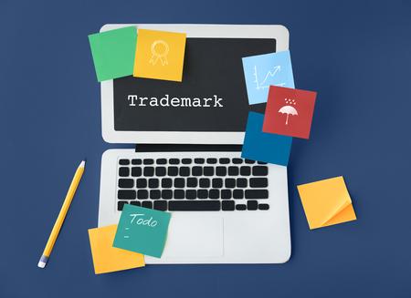 Marketing Branding Kreativität Geschäftswerte Standard-Bild - 80626311