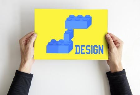 announce: Building blocks structure design graphic