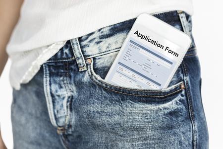 Graphic of application form balnk detail information