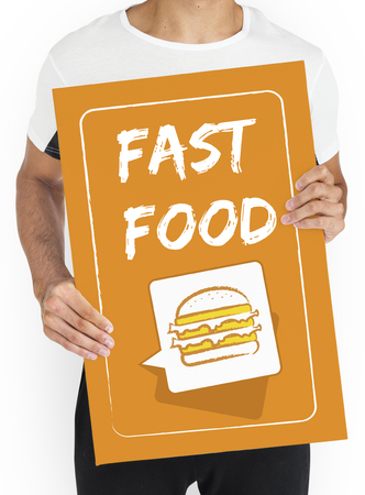 Burger Fast Food Icon Graphic Stock Photo - 80555665