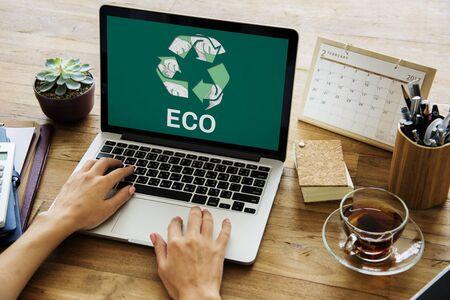 地球を救う環境保全保全 写真素材
