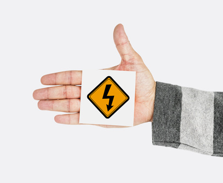 attached: Hand Shoot Showing Lightning Sign Attention Note