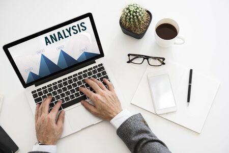 Analysis Strategy Study Information Business Planning Stockfoto