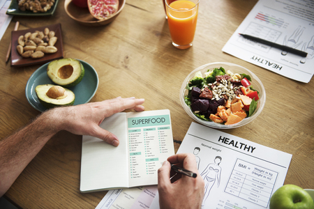 Person with superfood concept Stock Photo