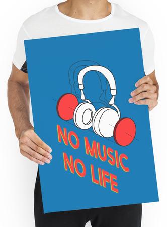 Music entertainment headphones icon graphic