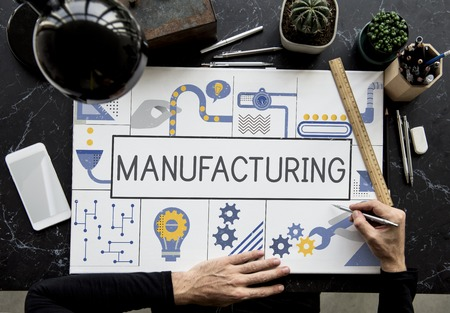 Manufacture Production Industry Ideas Concept 版權商用圖片