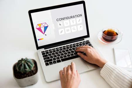 simulations: Graphic Design Icon Creative Style