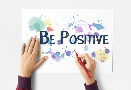 Positive Attitude Choice Optimism Inspire