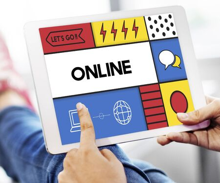 Online Communication Connection Interaction Concept Stock Photo