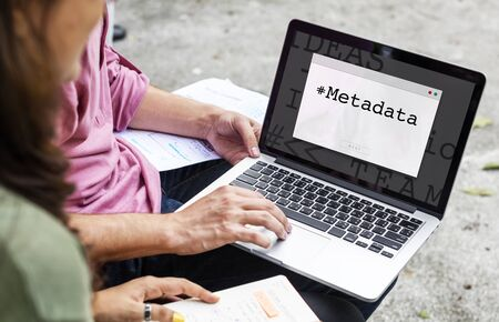 metadata: The User Connect to Metadata Computer Programming Stock Photo