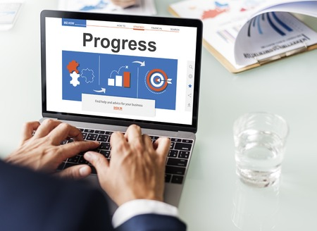 advice: Business Corporate Plan Guide Web Interface Stock Photo