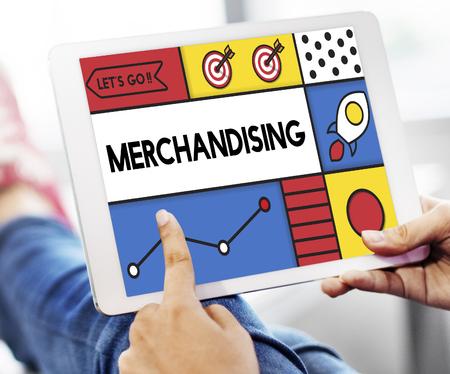 merchandising: Merchandising Marketing Production Retail Word Stock Photo