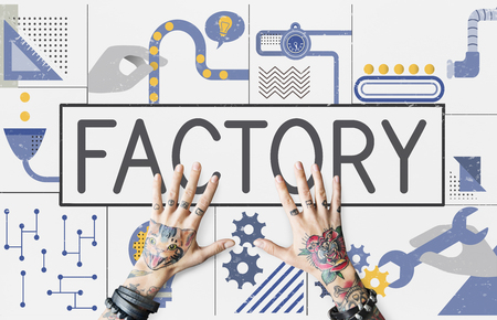 Manufacture Production Industry Ideas Concept Stok Fotoğraf