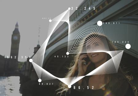 Icon Information Document Data Dots Reklamní fotografie