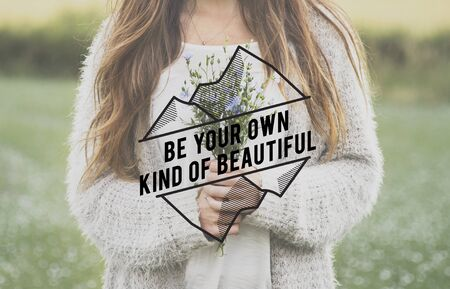 Be Your Own Kind Of Beautiful Phrase Words Фото со стока