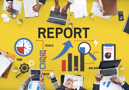 사업체 진도 차트 보고서 스톡 콘텐츠 - 80697680