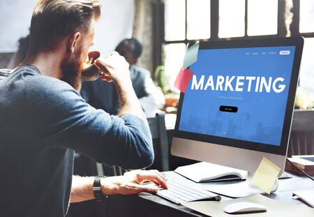 website words: Marketing Business Branding Advertising Word Stock Photo