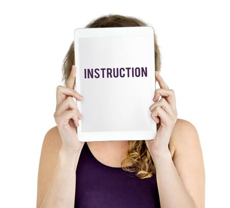 Instruction Direction Installation Regulations Guideline Stock Photo