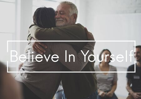 Believe in yourself is a motivation. Banco de Imagens