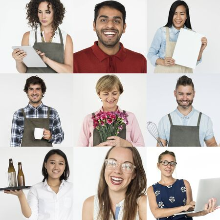Collection of people - startup small business concept