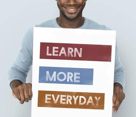 Motivatie Liefde Leven Leer Elke dag Stockfoto
