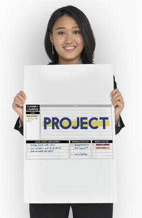 Projektbetrieb Vorhersage Strategieplan Plan Standard-Bild - 80699180
