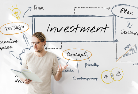 Man with investment concept Stock Photo