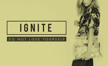 Positivity Encouragement Optimism Concept Word Banco de Imagens