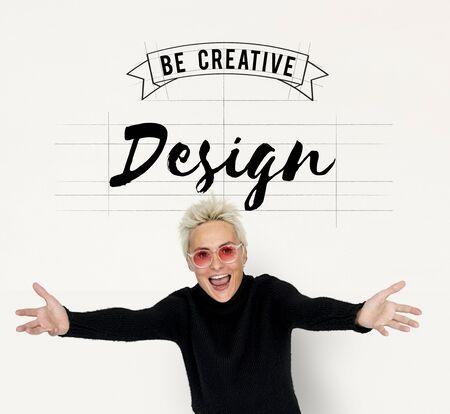 Kreatives Design Ideen Illustration Banner Konzept Standard-Bild - 80676471
