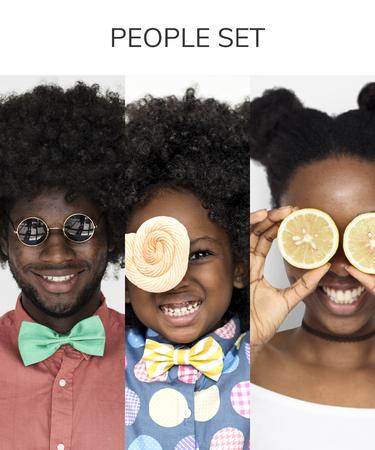 変な顔の人のコラージュ集