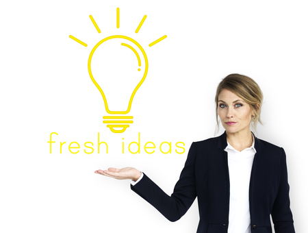 Ideas Light Bulb Think Create Graphic Word Stock Photo
