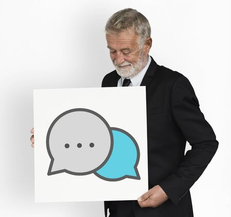 Speech Bubble Talk Conversation Graphic Stock Photo