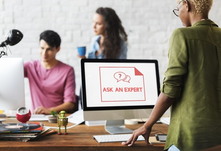 responding: Faq Frequently Asked Questions Customer Service Stock Photo