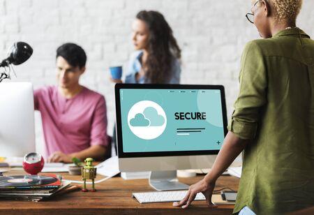 Cloud computing signe de l & # 39 ; icône Banque d'images - 80753902
