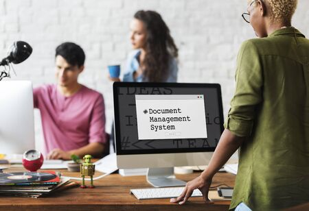 Document Management System Window Popup 免版税图像