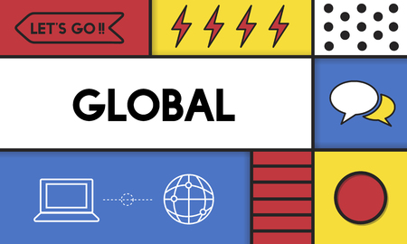 Graphic with global communication concept