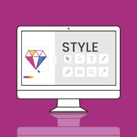 Graphic Design Icon Creative Style