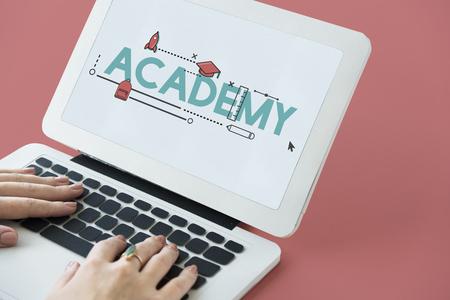 Academy Certification Curriculum Knowldege Icon Stok Fotoğraf
