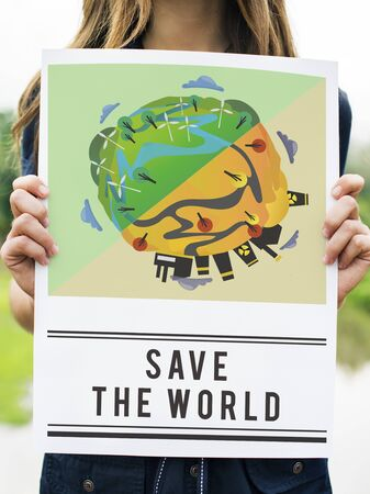 conscious: Save World Planet Earth Concept