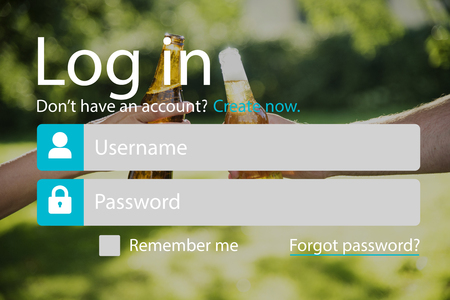 User Login Account Setting Interface Stock Photo