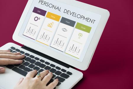 report icon: Development Success Performance Graphic Word Icon