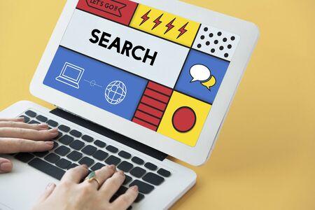 Search Find Information Data Concept Stok Fotoğraf