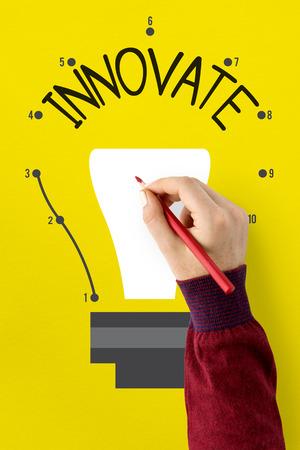 Imagination Innovate Think Big Icon Stock Photo