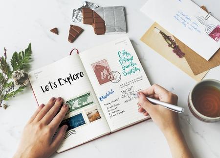Planning reisreizen notities wanderkust
