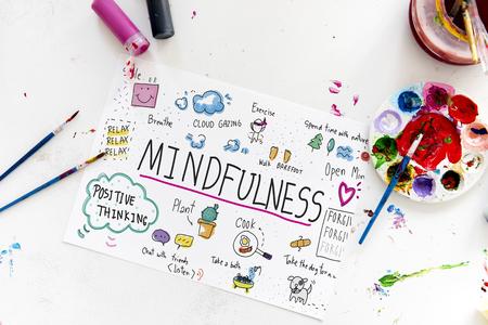 Illustratie van mindfulness leisure art activiteit